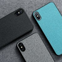 Wholesale phone pouch cloth for sale – best Cloth Texture Case for iPhone XS MAX XR XS Soft Phone Case for iPhone X s plus Business Fabric Back Cover Fundas