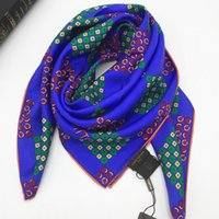 Wholesale new beautiful scarves resale online - Brand new design pirnt the dot blue color beautiful high quality silk size cm cm women s square scaves for women