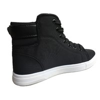 marka tuval dantel ayakkabıları toptan satış-Yüksek Kalite Erkekler Tuval Marka Sneakers Siyah R01 kadar 2019 Moda Yüksek üst Erkekler Casual Ayakkabı Nefes Tuval Man Dantel Ayakkabı