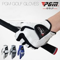 Wholesale golf glove left hand resale online - Left Hand Men s Golf Glove Micro Fiber Soft Left Hand Anti skidding Non Slip Particles Breathable Golf Glove ST017