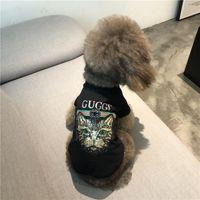 pamuklu köpek giyim toptan satış-Bahar yaz Köpek Giysileri Pamuk Nefes T-Shirt Teddy Schnauzer Bichon Frise Corgi Kedi Moda Pet Giyim Konfeksiyon