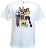 filme de tamanho queen venda por atacado-The King of Queens ver.5 T-shirt branco Movie Poster todos os tamanhos