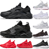 Wholesale leather sport shoes women for sale - Group buy Huarache I Running shoes for Men Women Sports Shoes Triple Black White Gold Huraches Womens Mens huaraches Trainer Sneakers
