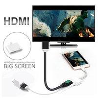 broches usb de câble achat en gros de-Adaptateur HDMI pour téléphone portable 8 broches vers adaptateur AV numérique HDMI 4K connecteur de câble USB 1080P HD pour téléphone i7 i8 X ...... Grand écran Voir