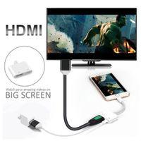 кабельные штырьки usb оптовых-Сотовый телефон HDMI адаптер 8-контактный цифровой AV-адаптер HDMI 4K USB кабельный разъем 1080P HD для телефона i7 i8 X...... Шоу На Большом Экране
