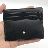 Wholesale card holder resale online - Designer Credit Card Holder Wallet Ultra thin Real Leather Card Holder wallet Fashion Men Women Slim Bank ID Card Case with box