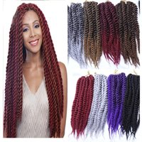 Wholesale different color braiding hair resale online - A Strands Pack Different Color Synthetic Braids Hair Extensions inch g Pack Or inch g Pack Kanekalon Heat Resistant Fiber