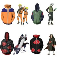 Wholesale naruto costume sakura haruno cosplay resale online - Japanese Anime Naruto Cosplay Jackets Clothes Costumes Men Hoodies Sweatshirts Uzumaki Akatsuki Haruno Sakura Hat Clothing Tops