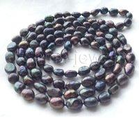 ingrosso perle d'acqua dolce nere barocco-Collana di perle Jewelryr Pretty 45