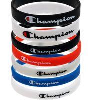 ingrosso braccialetti di squadra-Unisex Champion Silicone Sport Wristband Uomini Donne Bracciale in gomma Bangle Boys Basketball Bracciale per Team Party Regali creativi Nuovo B5703