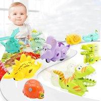 çanta çocuk dinozoru toptan satış-Çocuklar Basınç Atalet Sürgülü Dinozor Oyuncak Mini Basın Slayt Tarama Dinozor Araba Hediye Entelektüel Gelişim Mevcut Tek OPP TORBA