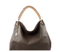 grandes bolsas de lona con cremallera al por mayor-Diseñador de moda para mujer bandolera de lona Artsy bolsos de cuero genuino hombro M40249 M41066 bolsas bolso grande 635