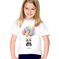 Wholesale panda clothing for baby boys for sale - Group buy Children Print Panda Bear Floating Meditation Funny T shirts Kids Summer Tees Casual Tops Baby Clothes For Boys Girls HKP2104