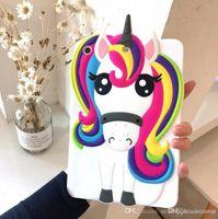 gepolsterter fall für ipad groihandel-Für iPad 2 3 4 5 6 Fall Cartoon Unicorn Tablet PC Schutzhülle weichen Silikon-rückseitige Abdeckung für Pad Pro Mini Shell Hüllen iPad Pro CASE