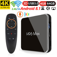 Wholesale android tv box voice control for sale - Group buy H96 MAX X2 Voice Control TV Box Android Amlogic S905 X2 GB DDR4 GB ROM G G WiFi USB3 BT4 K H Smart Media Player