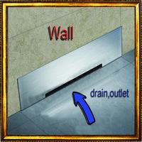 casa de banho de drenagem de aço inoxidável venda por atacado-Drenagem de parede Grande-Trânsito de Aço Inoxidável 30 cm Acessórios Do Banheiro Chuveiro Chão Waste Dreno Grande Taxa de Fluxo Recusar Desagradável cheiro