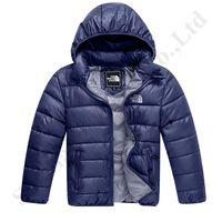 katmanlı yastıklı ceket toptan satış-Çocuklar Kuzey Marka Pamuk Aşağı Ceket Tasarım Genç Kış Yastıklı Mont NF Açık Boy Kızlar Kapşonlu Ceketler Yüz Hafif Coat C120401