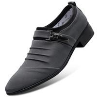 erkek için ofis rahat ayakkabılar toptan satış-Moda Sivri Burun Erkekler Için Rahat Ayakkabı Kayma Tembel Loafer'lar Ayakkabı Nefes Ofis Iş Ayakkabıları Için Erkek
