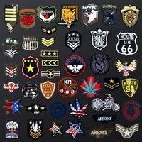 ingrosso patch di ferro di emblema-Militare Emblema Epaulette Cap Badge Camouflage Patch Ricamate Iron-On Per Abbigliamento FAI DA TE Patch Applique Vestiti Patches