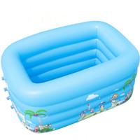 şişirilmiş şişler kullanılmış toptan satış-Çocuk Banyo Küveti Bebek Ev Kullanımı Çocuk Şişme Kare Havuz bebek Yüzme Havuzu Su Şişme Oynamak