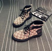 i̇ngiliz martin ayakkabıları toptan satış-Martin çizmeler kadın sonbahar İngiliz tarzı edebi retro yüksek top kalın soled baskı bayan ayakkabıları ile vahşi lokomotif kısa ayak bileği çizmeler