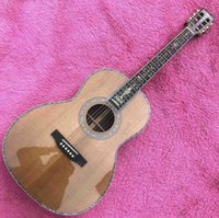 Wholesale guitar ebony for sale - Group buy 39 inch custom Solid cedar top acoustic Guitar Abalone Ebony fingerboard Guitar acoustic Rosewood back