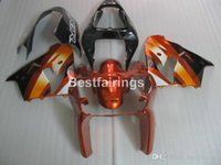 Wholesale aftermarket kawasaki ninja fairings for sale - Group buy Aftermarket body parts fairing kit for Kawasaki Ninja ZX9R wine red black flames silver fairings set ZX9R HH18