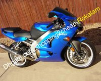 Wholesale abs kit for motorcycle for sale - Group buy For Kawasaki Bodywork Motorcycle Parts Ninja ZX R ZX R ZX6R ZX636 ZX Blue ABS Fairing kit Injection molding