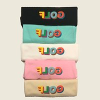xl mens kimonos al por mayor-19ss Fashion Wholesale Golf de lujo Wang 3D LOGO Shorts de golf Hombres Diseñador Camisetas Mujeres Pareja Hombres camiseta de diseñadorHFSSTX275