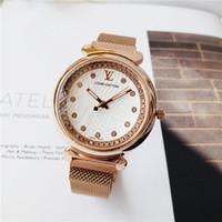 relógios de pulso venda por atacado-Moda moderna Relógio de Quartzo Preto Mulheres Malha Pulseira De Aço Inoxidável de Alta Qualidade Relógio de Pulso Casual para a Mulher de absorção Magnética