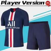 trajes de versión al por mayor-Versión del jugador Kits Paris home Camisetas de fútbol # 7 MBAPPE 19/20 Hombres Traje de fútbol # 10 NEYMAR JR # 18 ICARDI uniformes de fútbol jersey + shorts