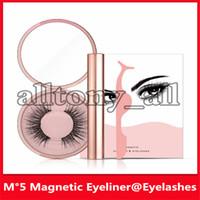Wholesale magnet ship for sale - Group buy Popular Magnetic Liquid Eyeliner Magnetic False Eyelashes Tweezer Set Magnet False Eyelashes Set Glue Make Up Tools sets drop shipping
