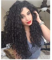 Wholesale black african wigs for sale - Group buy XIUZHIMEI High quality African small curly black black long hair wave head small volume European and American wig
