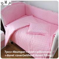 Wholesale bedding curtain set for sale - Group buy Promotion baby bedding set cotton Duvet Cover curtain baby cot sets cm
