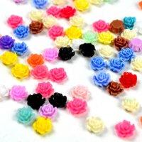 смоляные шипы оптовых-Resin Rose 3d Flower Nail Art Поставки Акриловые Цветы Для Ногтей Аксессуары Украшения Для Ногтей Новые Приходят Шпильки Zj1098