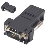 extensor femenino de lan masculino al por mayor-Extensor VGA macho a LAN CAT5 CAT6 RJ45 Cable de red Ethernet Adaptador hembra Computadora Kit de convertidor de interruptor adicional 04HR