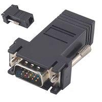 weibliche männliche lan extender großhandel-VGA Extender Stecker auf LAN CAT5 CAT6 RJ45 Netzwerk Ethernet Kabel Buchse Adapter Computer Extra Switch Converter Kit 04HR