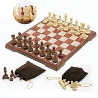 xadrez dobrável venda por atacado-4 Tamanho Magnético Placa Torneio de Viagem Conjunto De Xadrez Portátil Novo Xadrez Dobrado Board International Xadrez Magnético Conjunto Jogando Presente