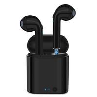 fones de ouvido sem fio para celular venda por atacado-I7 I7S TWS Gêmeos Bluetooth Earbuds Mini Fones De Ouvido Sem Fio fone de Ouvido com Microfone Estéreo V4.2 Fone De Ouvido para Celulares com Pacote de varejo