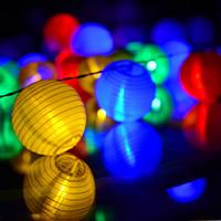 lanternas solares ao ar livre venda por atacado-Ao ar livre Solar Light String Lanterna 30 LEDs Árvore de Natal Decoração de Férias Paisagem Jardim LED String Luz