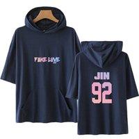 çocuk giyimini karıştır toptan satış-ÇOCUKLAR Gençler T-shirt Çocuklar Tasarımcı Kısa Kollu Elbise Erkek Kız Serin Kapşonlu Eğlence Kurşun Gevşek Karışık renk Lu Caiyue