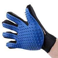 Wholesale pet grooming glove resale online - Pet Hair Gloves Pet Cleaning Grooming Glove Deshedding Handed Dog Cat Hair Removal Silicone Brush Humanized Design left Right