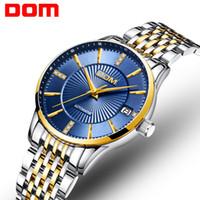 kadın beyaz kol saati toptan satış-Bayanların Otomatik Mekanik Saat Gündelik Moda Analog Suya Dayanıklı Paslanmaz Çelik Altın Elbise Kadın Kol Saatleri Beyaz Mavi Siyah