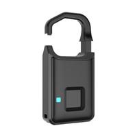 bloqueio de impressões digitais venda por atacado-Bloqueio de Impressão Digital Keyless Inteligente de Impressão Digital de Bloqueio USB Recarregável À Prova D 'Água USB Recarregável Bloqueio para o Saco de Golfe, Mala, Ginásio Locker