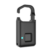 biometrisches fingerabdrucksystem großhandel-Schlüsselloses Fingerabdruckschloss Intelligentes Fingerabdruckschloss USB-Aufladung Wasserdichtes, wiederaufladbares USB-Smart-Schloss für Golftasche, Koffer und Fitnessraumfach