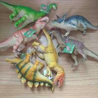 ingrosso rex giocattoli-Jurassic Rex Dinosaur Model 6 Modelli Large Solid Simulated Dinosaur Toys 24cm Tyrannosaurus pizzico vocale chiamato regalo per bambini
