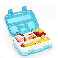 ingrosso bento-Scatola da pranzo portatile giapponese per bambini Scuola Divide Plate Bento Box Cucina Stoviglie a prova di perdite Campeggio cibo contenitore Food Box