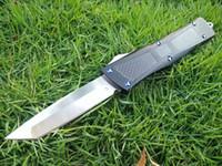 волоконные лезвия оптовых-Боевой VG10 лезвие из углеродного волокна ручка двойного действия складной фиксированным лезвием охотничьи ножи Рождественский подарок нож C177 Roc