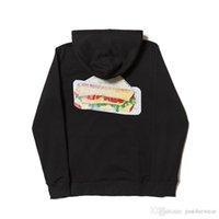 sandviç modası toptan satış-Erkek Moda Tasarımcısı Kapşonlu Sweatshirt Hamburg Sandviç Üçgen Desen Baskı Kapüşonlular Hommes Gevşek Hip Hop Kapüşonlular Erkek Giyim Tops