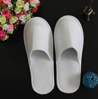 toallas de mujer caliente al por mayor-Eco-Friendly desechables zapatillas de hotel Towelling EVA zapatillas Zapatilla Hombres Mujeres Flip Flop White Hot Precio de venta de la fábrica de interior barato del deslizador